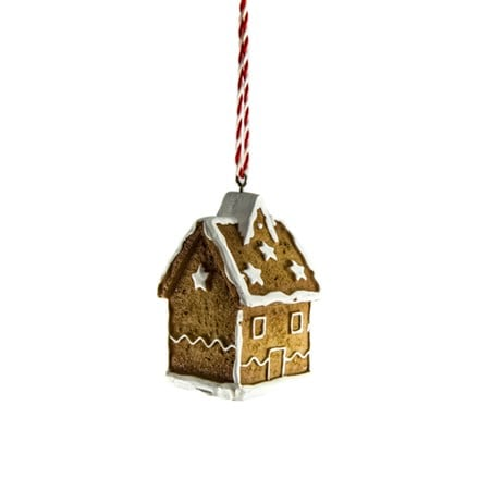 Resin 3D gingerbread house decoration