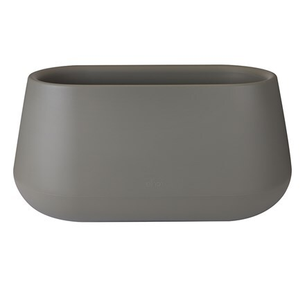 Pure cone long stone grey planter with wheels