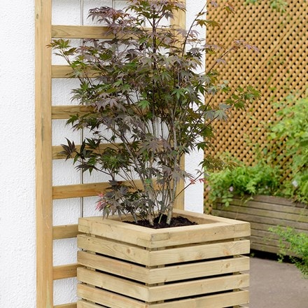 Tall contemporary planter