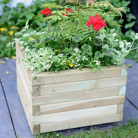 Elite square medium planter