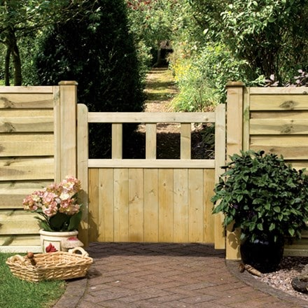 Solid infil path gate