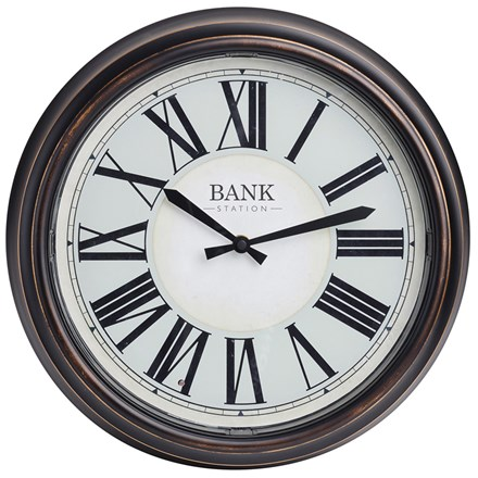 Bank station LED clock