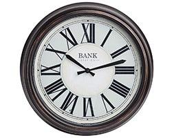 Bank station LED clock