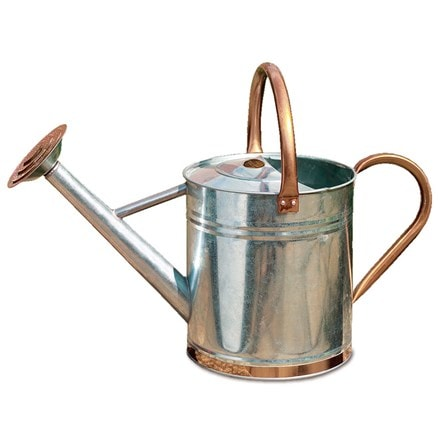 Metal watering can - copper trim