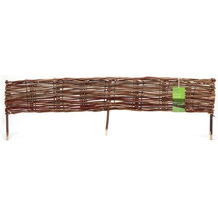 Woven willow hurdle