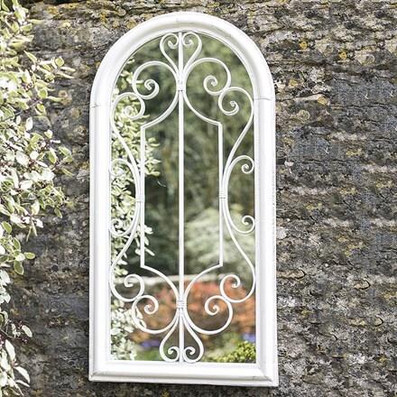 Scrolled arch mirror