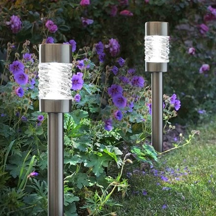 Stainless steel solar stake light