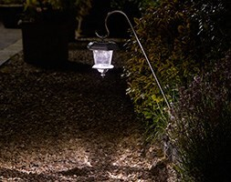 Hansom stainless steel solar lanterns