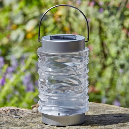 Wave stainless steel solar lantern