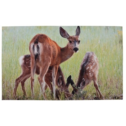 Deer printed doormat