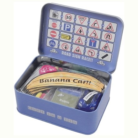 Car journey games gift tin