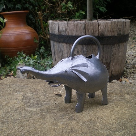 Ornamental watering can - elephant