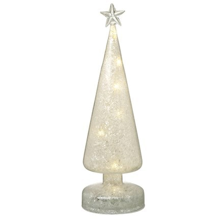 LED tree - white glitter star