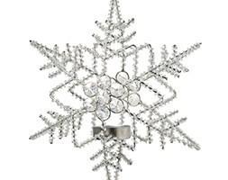 Hanging snowflake tea light holder