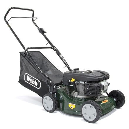 Webb push steel deck petrol rotary mower R41HP 16""