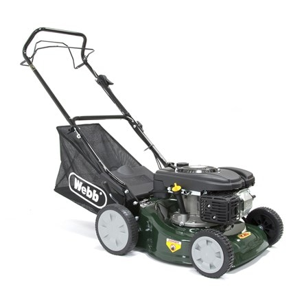 Webb self propelled steel deck petrol rotary mower R41SP 16""