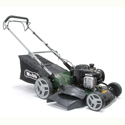 Webb self propelled steel deck petrol rotary mower R46SP 18""