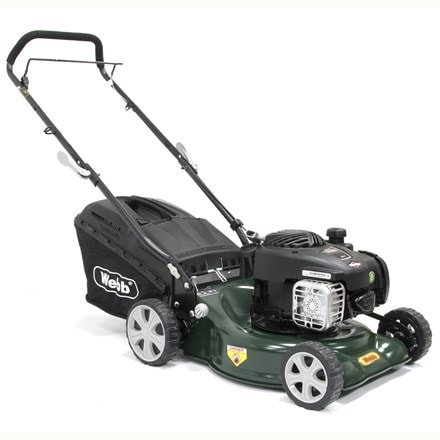 Webb push steel deck petrol rotary mower R16HP 16""