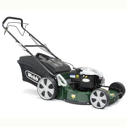 Webb self propelled alloy deck petrol rotary mower R19A 19""
