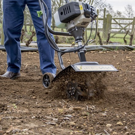 Handy petrol engine garden tiller