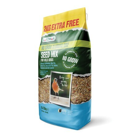 No grow bird seed mix - 12.75kg +2kg