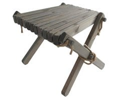 Nordeck side table - grey pine