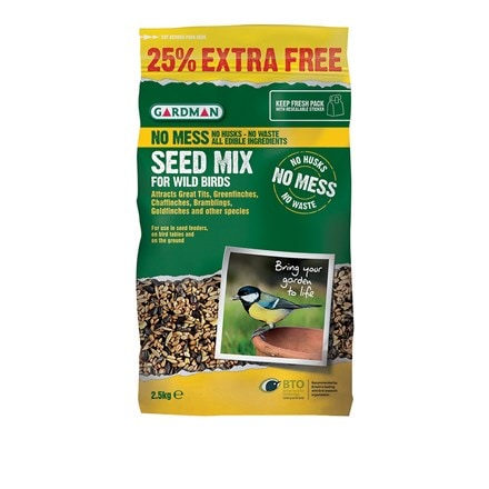 No mess seed 2kg + 25% extra free