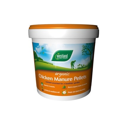 Organic chicken manure pellets bucket
