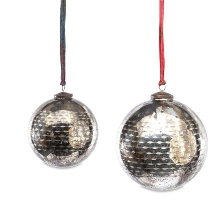 Tiko baubles - antique smoke set of 3
