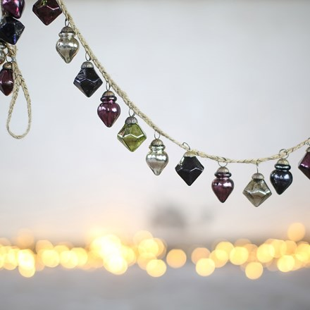 Ekiti bauble garland - mixed colours