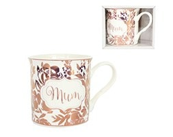 Rose gold foil ceramic 'mum' mug