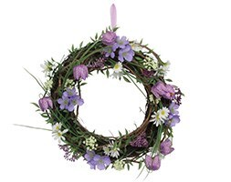 Fritillaria mixed flowers twig wreath