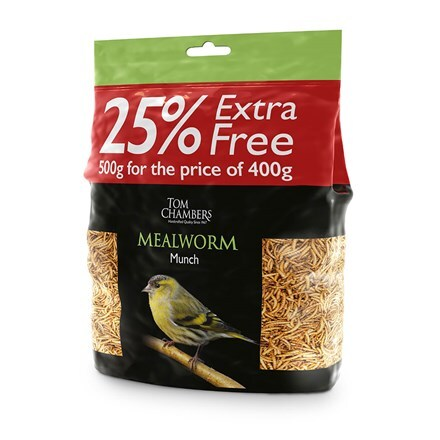 Mealworm munch 400g plus 100g extra free