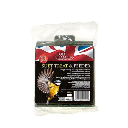 Suet treat with feeder