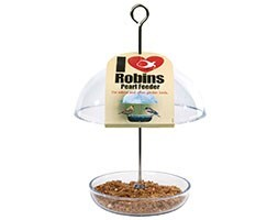 I love robins pearl mealworm and seed feeder