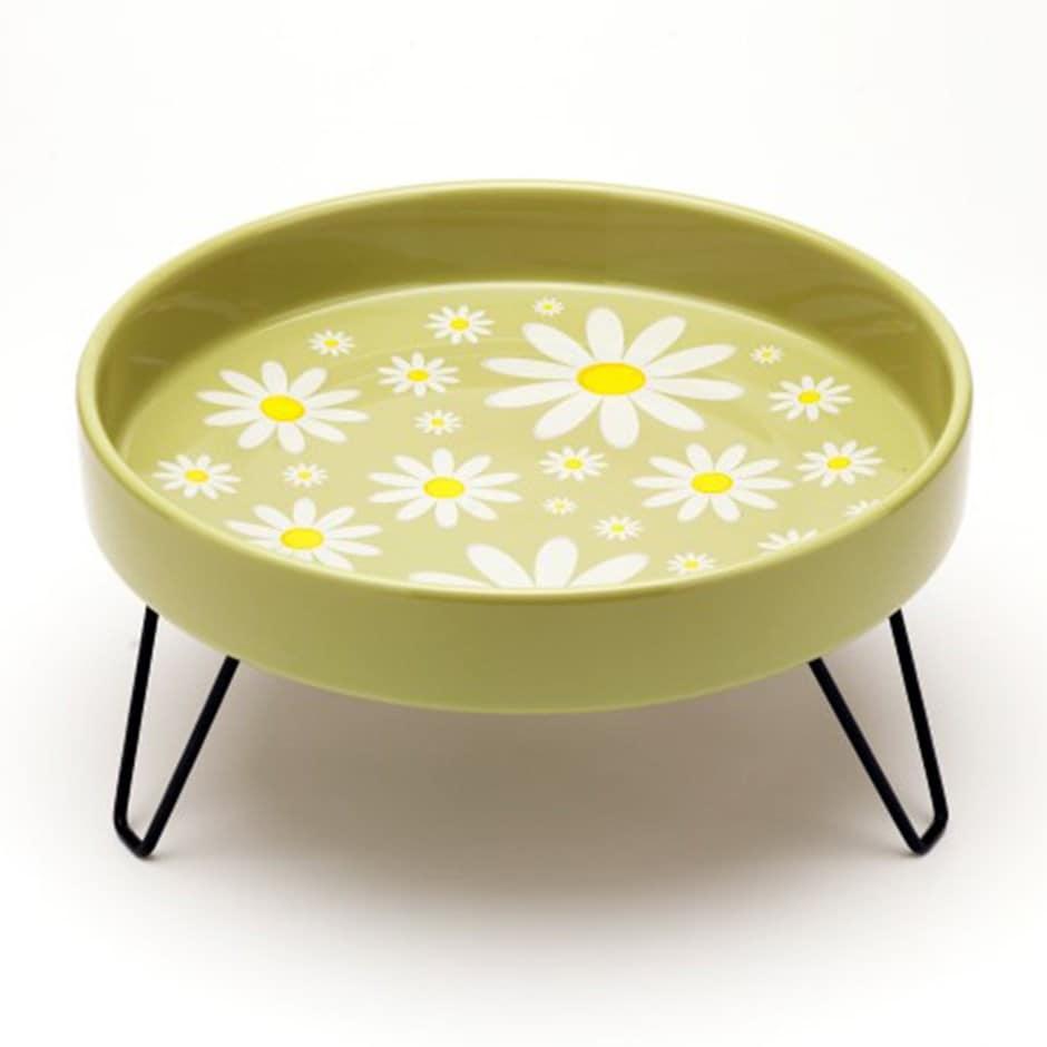 Ceramic bird bath - daisy