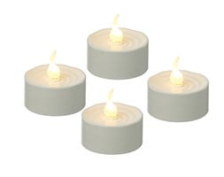 Battery operated tealights set of 4