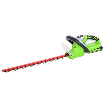 Cordless Greenworks G24HT54K2 24V hedge trimmer