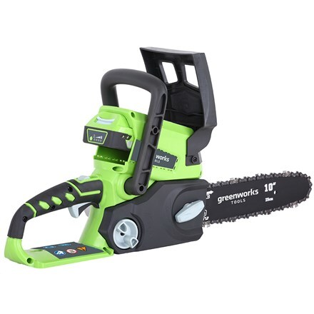 Cordless Greenworks G24CSK2 24V chainsaw