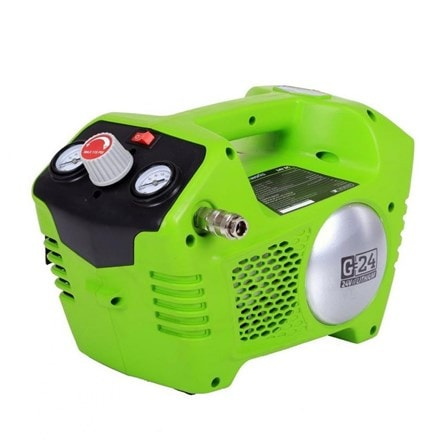 Cordless Greenworks G24ACK2 24v compressor - tool only