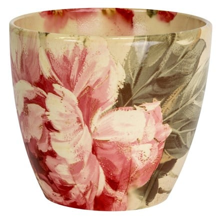 Monza planter - floral peony