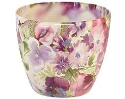 Monza planter - floral violet