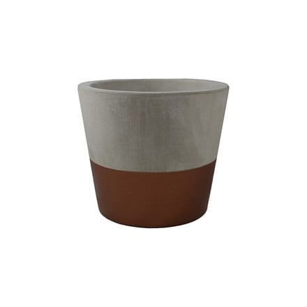 Bronze cement pot