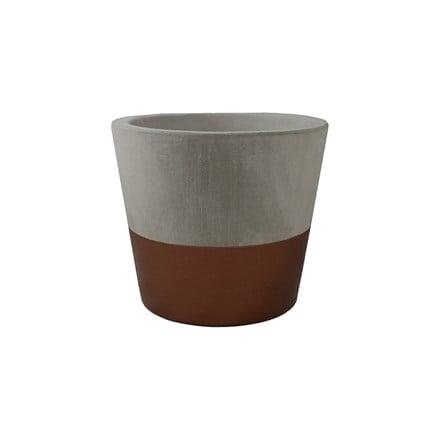 Bronze cement pot