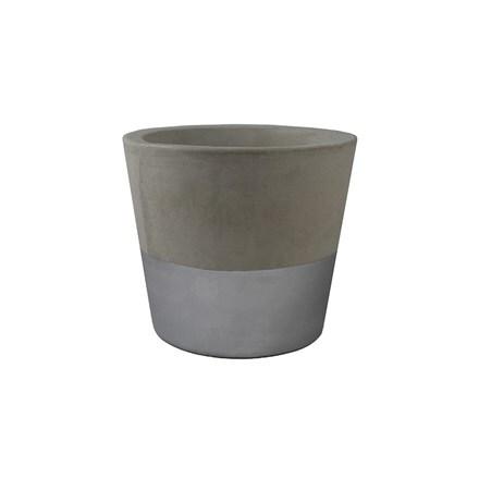 Silver cement pot