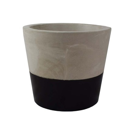 Black cement pot