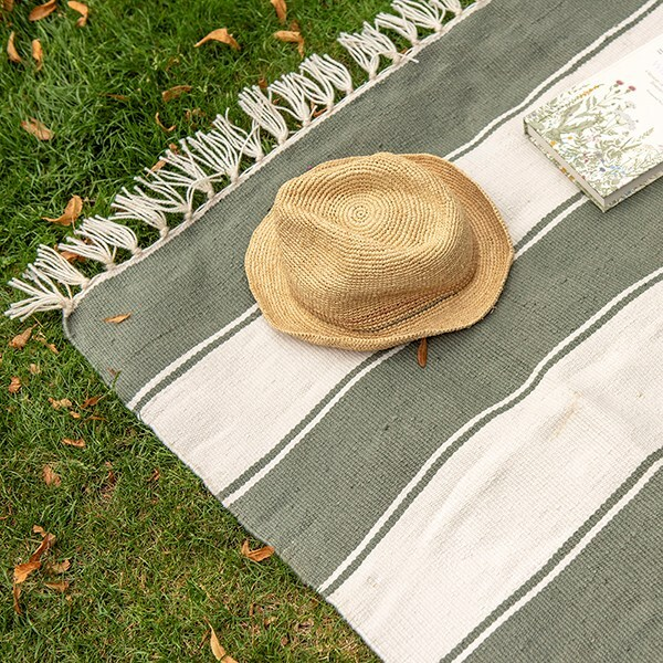 Indoor/outdoor rug - produced from recycled plastic