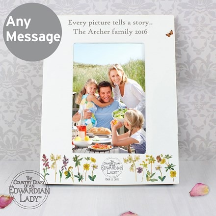 Personalised country diary wild flowers 6x4 photo frame