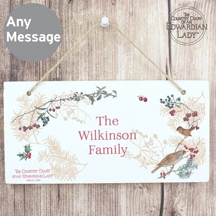 Personalised country diary midwinter wooden sign