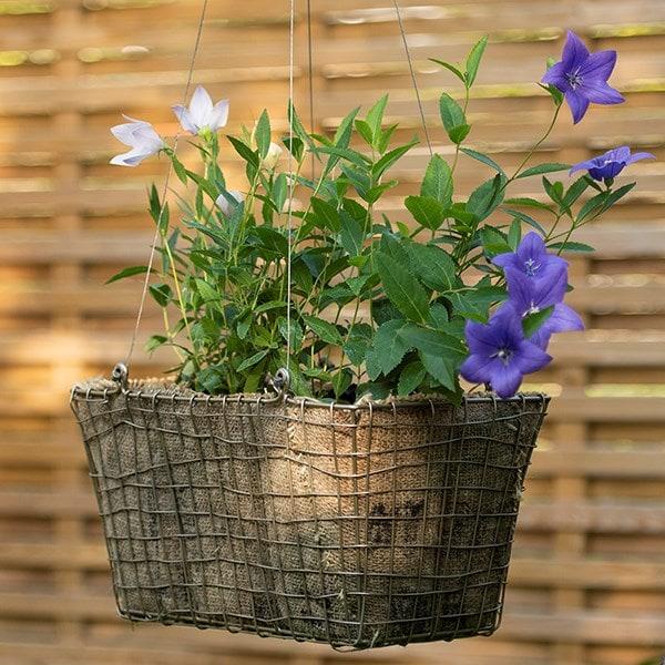 Rectangular net hanging basket